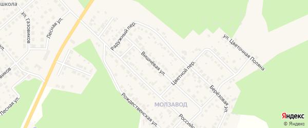 Вишневая улица на карте Долгодеревенского села с номерами домов