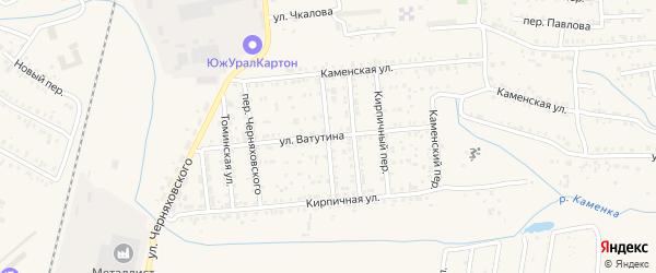 Яблочный переулок на карте Коркино с номерами домов