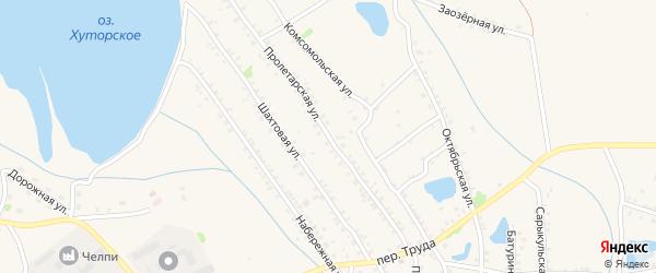 Пролетарская улица на карте Еманжелинска с номерами домов