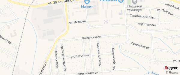 Яблочная улица на карте Коркино с номерами домов