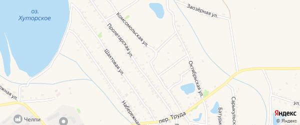 Комсомольская улица на карте Еманжелинска с номерами домов