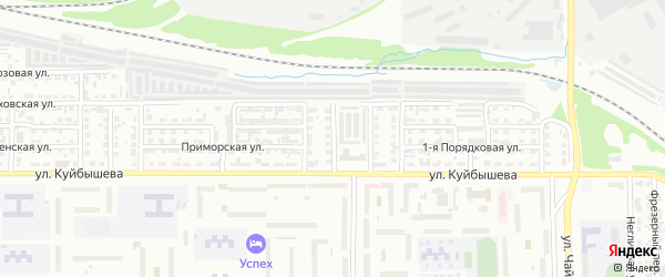 Теннисная 2-я улица на карте Челябинска с номерами домов