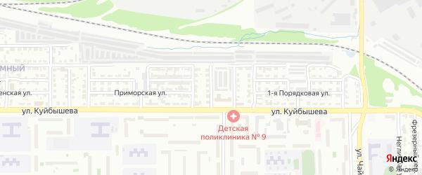 Теннисная улица на карте Челябинска с номерами домов