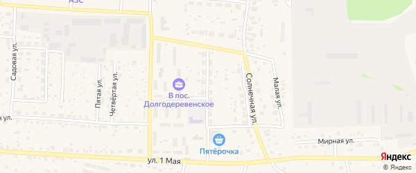 Улица Гагарина на карте Долгодеревенского села с номерами домов