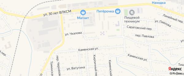 Переулок Чкалова на карте Коркино с номерами домов