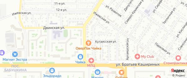 Улица Актюбинская(Колхозный) на карте Челябинска с номерами домов
