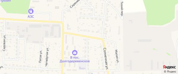 Солнечная улица на карте Долгодеревенского села с номерами домов