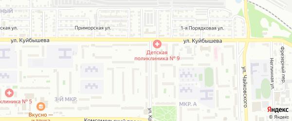 Территория Гаражи Красного Урала ул у дома 4 на карте Челябинска с номерами домов