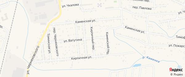 Кирпичный переулок на карте Коркино с номерами домов