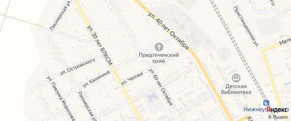 Улица 60 лет Октября на карте Увельского поселка с номерами домов
