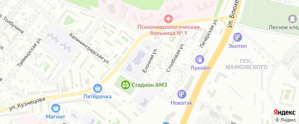 Елочная улица на карте Челябинска с номерами домов