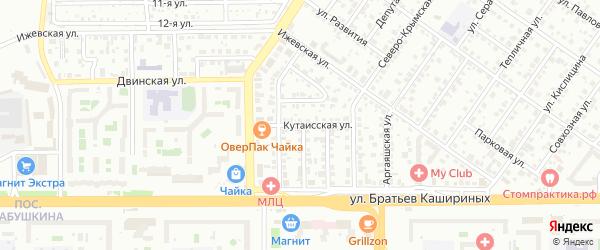 Кутаисская улица на карте Челябинска с номерами домов