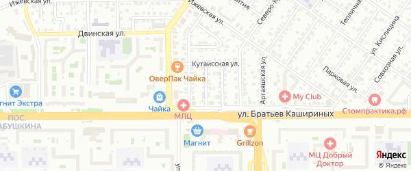 Северо-Крымский 2-й переулок на карте Челябинска с номерами домов