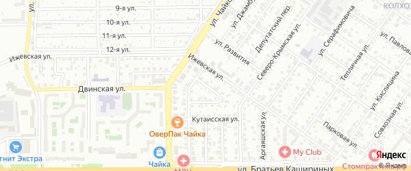 Батайский переулок на карте Челябинска с номерами домов