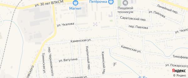 Каменская улица на карте Коркино с номерами домов