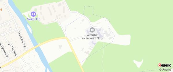 Санаторная улица на карте Челябинска с номерами домов
