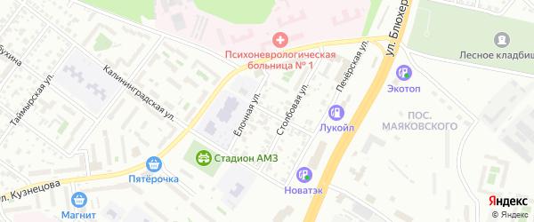 Железная улица на карте Челябинска с номерами домов