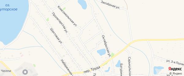 Советский переулок на карте Еманжелинска с номерами домов