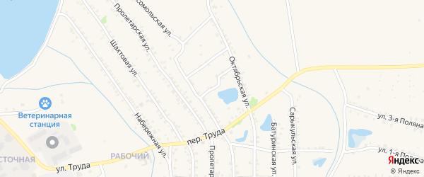 Переулок Забойщика на карте Еманжелинска с номерами домов