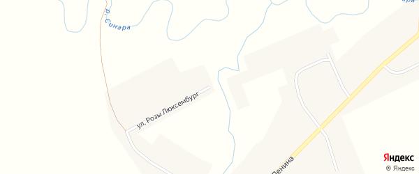 Улица Розы Люксембург на карте села Юшково с номерами домов