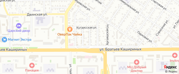 Северо-Крымский 1-й переулок на карте Челябинска с номерами домов