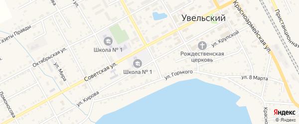 Улица Кирова на карте Увельского поселка с номерами домов