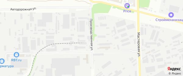 Производственная улица на карте Челябинска с номерами домов
