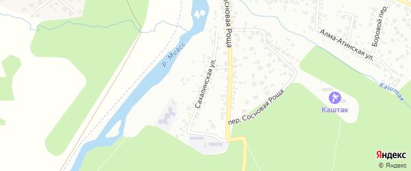 Сахалинская улица на карте Челябинска с номерами домов
