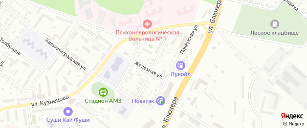 Столбовая улица на карте Челябинска с номерами домов