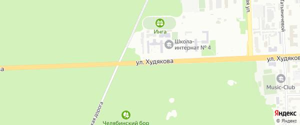 Улица Худякова на карте Челябинска с номерами домов