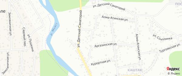 Аргазинский переулок на карте Челябинска с номерами домов