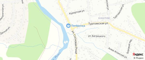 Улица Сосновая Роща на карте Челябинска с номерами домов