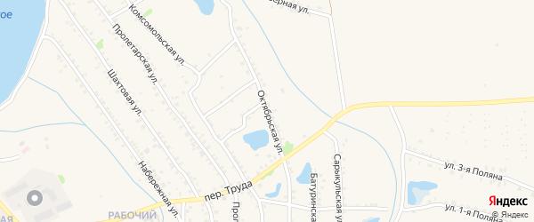 Октябрьская улица на карте Еманжелинска с номерами домов