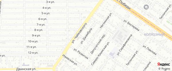 Улица Джамбула на карте Челябинска с номерами домов