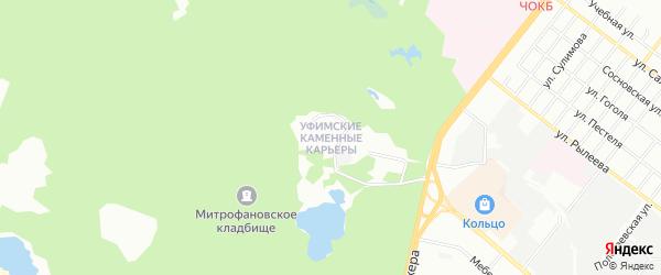 Карта поселка Уфимские Каменные Карьеров города Челябинска в Челябинской области с улицами и номерами домов