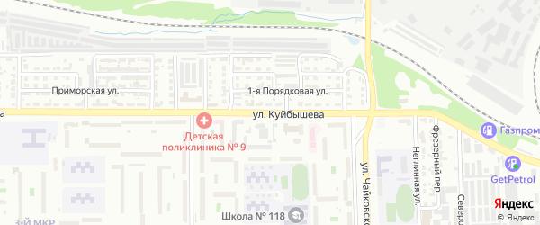Улица Куйбышева на карте Челябинска с номерами домов