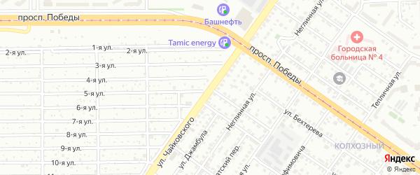 Улица Чайковского на карте Челябинска с номерами домов