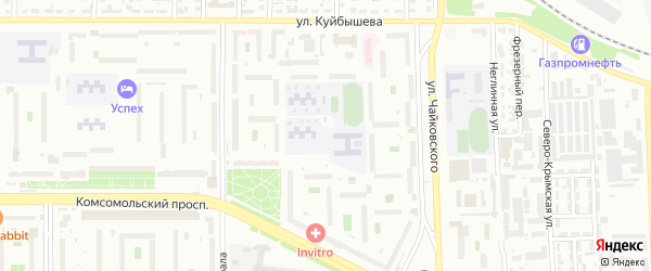 Территория Гаражи Комсомольский пр-кт у дом 66б-62а на карте Челябинска с номерами домов