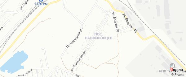 Улица Панфиловцев на карте Челябинска с номерами домов