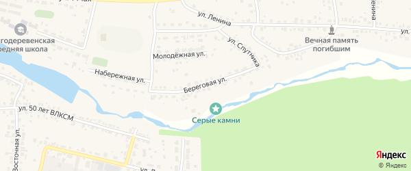 Береговая улица на карте деревни Шигаево с номерами домов