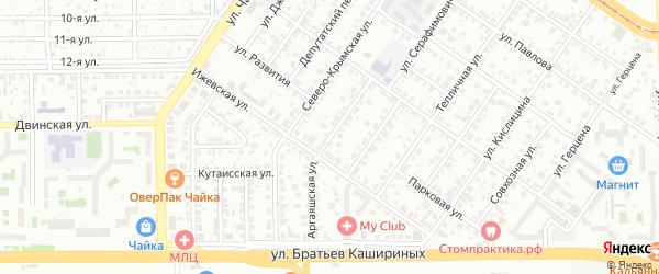 Аргаяшская улица на карте Челябинска с номерами домов