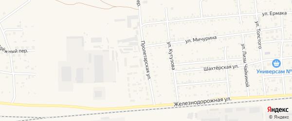 Пролетарская улица на карте Коркино с номерами домов