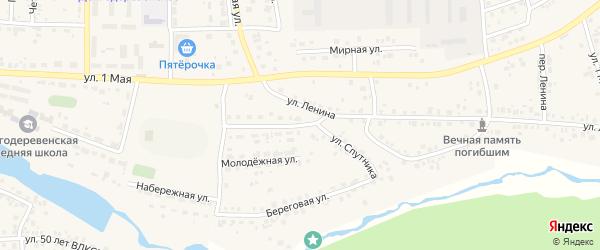 Улица Спутника на карте деревни Шигаево с номерами домов
