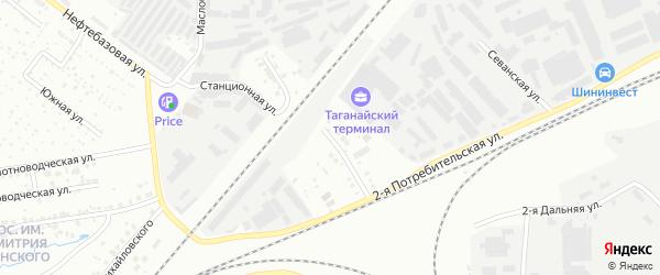 Таганайская улица на карте Челябинска с номерами домов