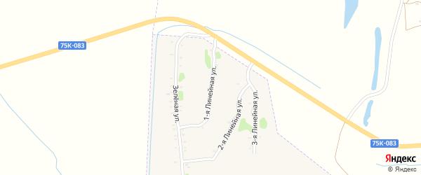 Линейная 1-я улица на карте Еманжелинска с номерами домов