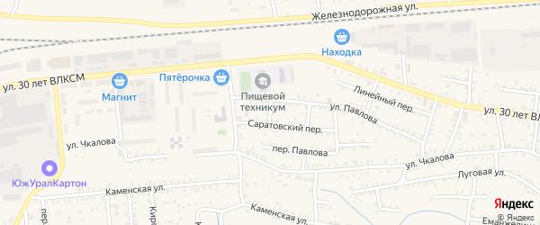 Псковский переулок на карте Коркино с номерами домов