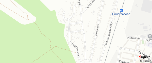 Андреевская улица на карте Челябинска с номерами домов