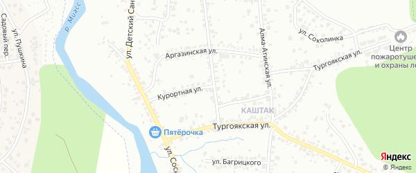 Курортная улица на карте Челябинска с номерами домов