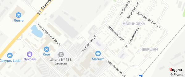 Базовая 2-я улица на карте Челябинска с номерами домов