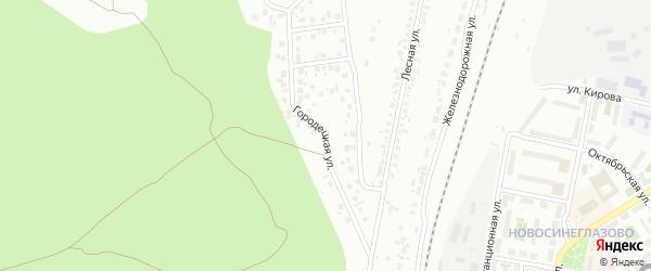 Городецкая улица на карте Челябинска с номерами домов